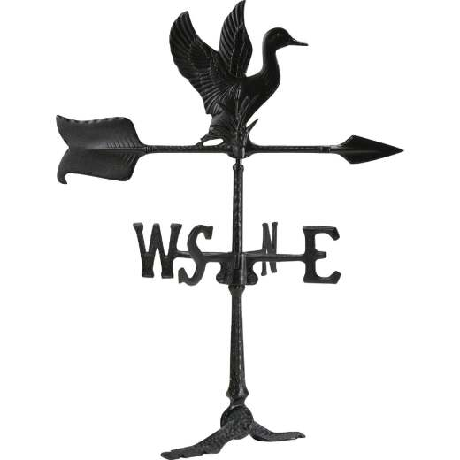 Whitehall Products 24 In. Black Aluminum Duck Weather Vane