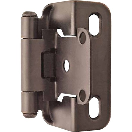 Amerock Oil Rubbed Bronze Self-Closing Partial Wrap Overlay Hinge (2-Pack)