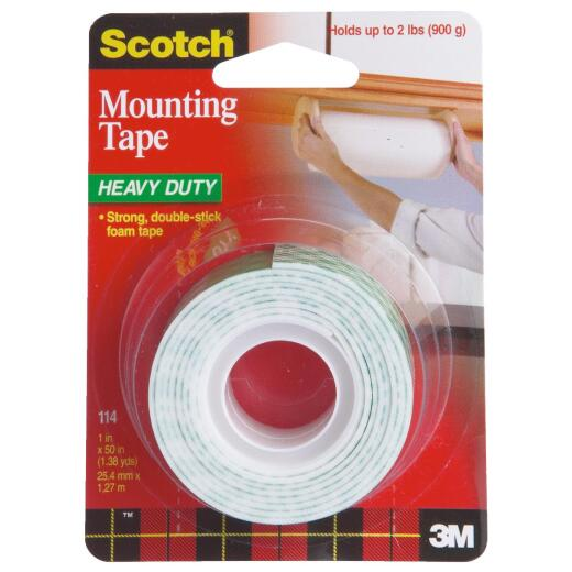 3M Scotch 1 In. x 50 In. Indoor Mounting Tape (5 Lb. Capacity)