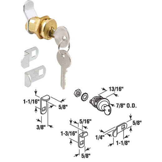 Prime-Line Threaded Barrel Design Mailbox Lock