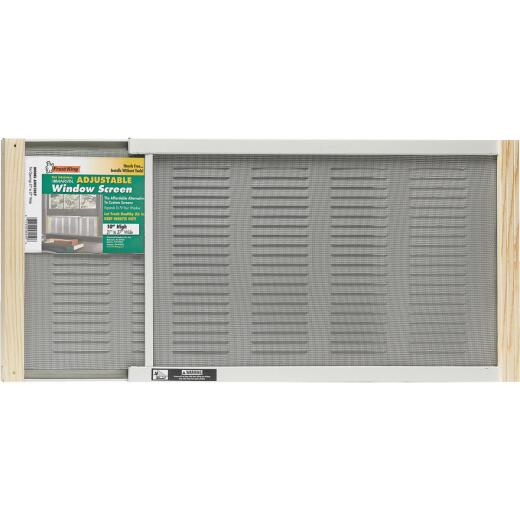 Martin Adjustable Louvered Screen Window with Ventilator