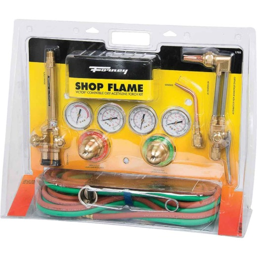 Forney Shop Flame Victor Compatible Medium-Duty Oxygen Acetylene Torch Kit