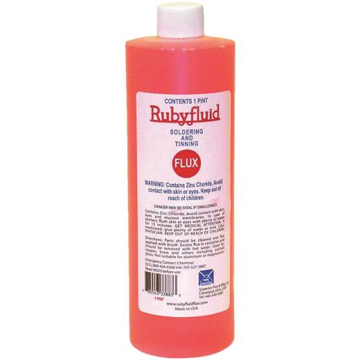 Superior Flux Rubyfluid 16 Oz. Soldering Flux, Liquid