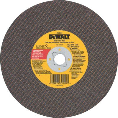 DeWalt HP Type 1 8 In. x 1/8 In. x 5/8 In. Metal Cut-Off Wheel