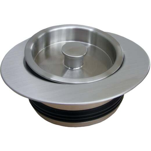 Lasco Satin Nickel PVC Disposer Flange and Stopper