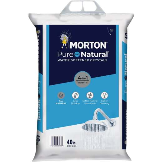 Morton 40 Lb. Water Softener Salt Crystals