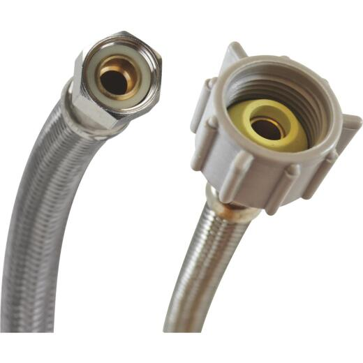 """Fluidmaster 3/8"""" Comp x 7/8"""" Ballcock x 16"""" L Braided Stainless Steel Toilet Connector"""