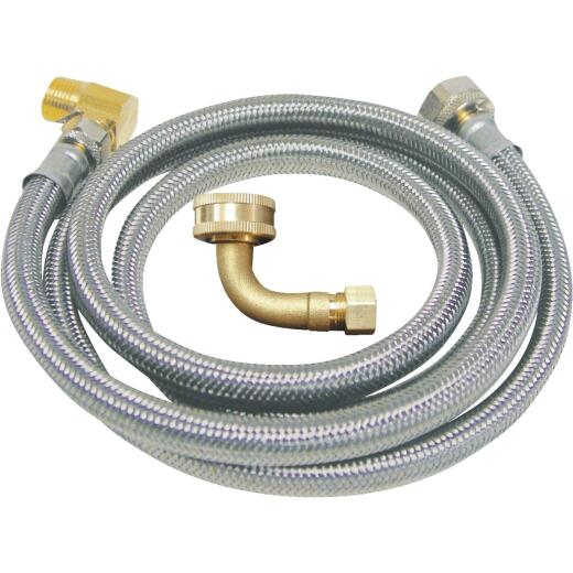 B&K 3/8 In. x 3/8 In. x 72 In. Stainless Steel Dishwasher Connector