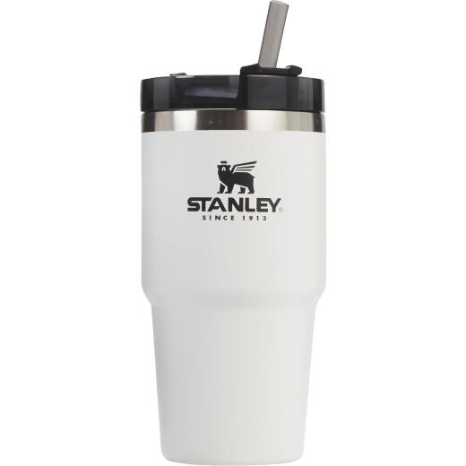 Stanley 20 Oz. Polar White Adventure Insulated Tumbler with Straw