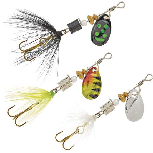 SouthBend 3-Piece Classic Dressed Spinners Fishing Lure Kit