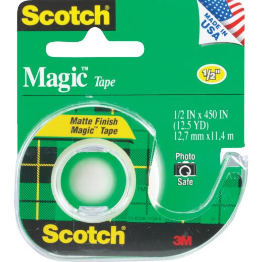 3M Scotch 1/2 In. x 450 In. Magic Transparent Tape