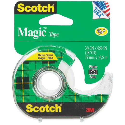 3M Scotch 3/4 In. x 650 In. Magic Transparent Tape